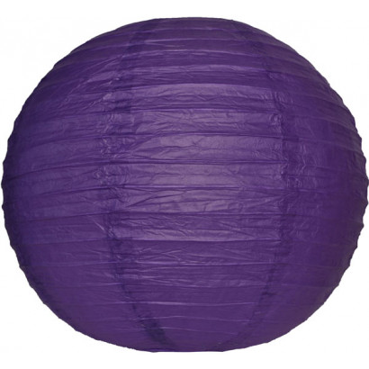 Papierový lampión guľatý visiaci 20cm fialový