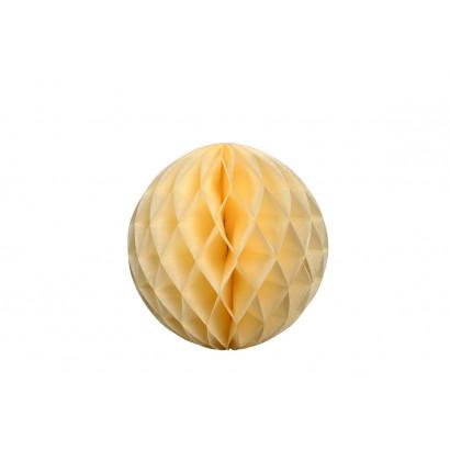 Dekoratívna Papierová guľa Honeycomb 40cm béžová