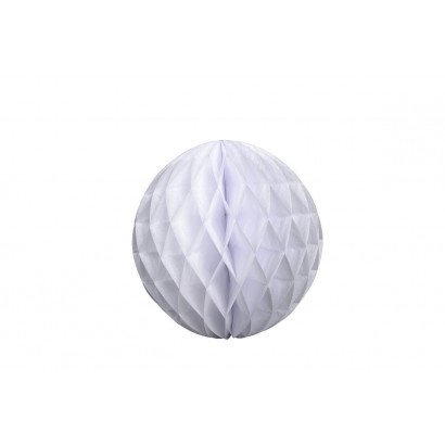 Dekoratívna Papierová guľa Honeycomb 20cm biela