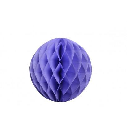 Dekoratívna Papierová guľa Honeycomb 30cm fialová