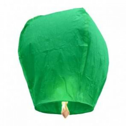 Zelený Lietajúci lampión ŠTANDARD - 2. trieda kvality