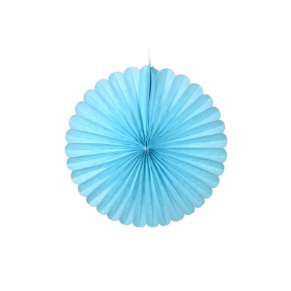 Papierová Rozeta 40cm modrá