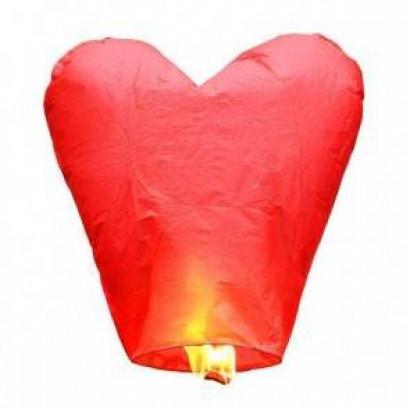 PREMIUM KVALITA Červený Lietajúci lampión SRDCE Standard