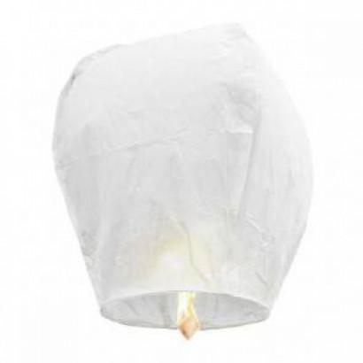 Biely Lietajúci lampión ŠTANDARD - 2. trieda kvality