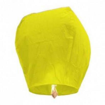 PREMIUM KVALITA Žltý Lietajúci lampión ECO