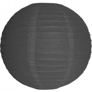 Papierový lampión guľatý visiaci 30cm sivý