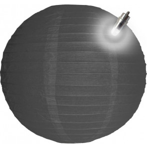 Papierový lampión guľatý visiaci LED 30cm sivý