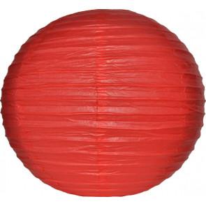 Papierový lampión guľatý visiaci 20cm červený
