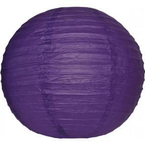 Papierový lampión guľatý visiaci 50cm fialový