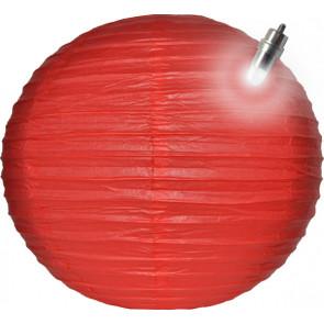 Papierový lampión guľatý visiaci LED 30cm červený