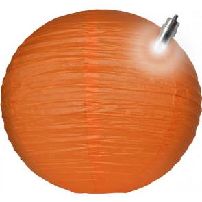 Papierový lampión guľatý visiaci LED 20cm oranžový