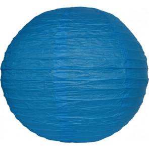 Papierový lampión guľatý visiaci 20cm modrý