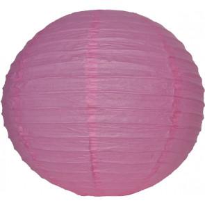 Papierový lampión guľatý visiaci 20cm ružový