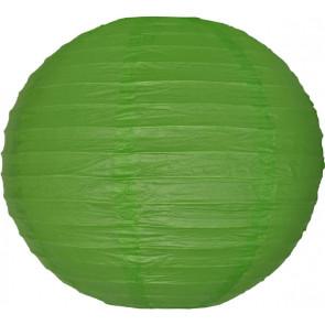 Papierový lampión guľatý visiaci 20cm zelený