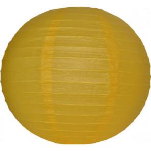 Papierový lampión guľatý visiaci 20cm žltý