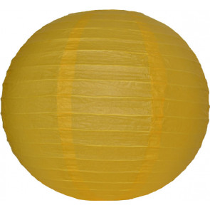 Papierový lampión guľatý visiaci 30cm žltý