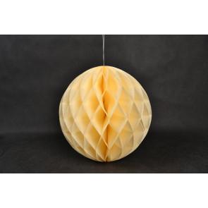 Dekoratívna Papierová guľa Honeycomb 20cm béžová
