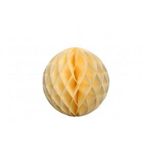 Dekoratívna Papierová guľa Honeycomb 30cm béžová