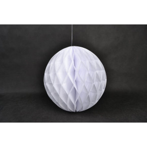 Dekoratívna Papierová guľa Honeycomb 30cm biela
