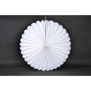 Papierová Rozeta 40cm biela