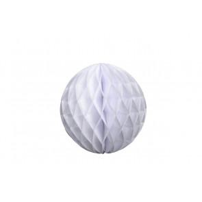 Dekoratívna Papierová guľa Honeycomb 40cm biela