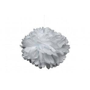 Papierový Pompom 40cm, biely