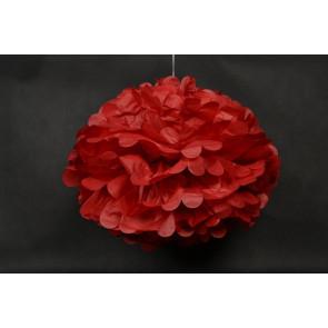Papierový Pompom 40cm, červený