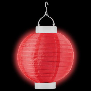1ks Dekoratívny LED svietiaci lampión 20cm – červený + AAA batérie zadarmo