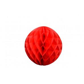 Dekoratívna Papierová guľa Honeycomb 20cm červená