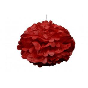 Papierový Pompom 50cm, červený