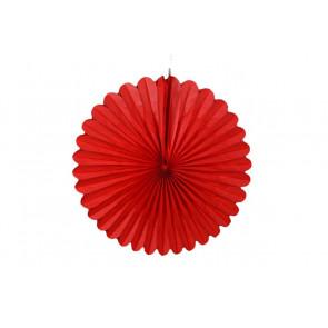 Papierová Rozeta 40cm červená