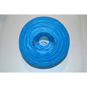 Papierový lampión guľatý visiaci 30cm modrý