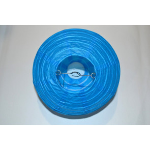 Papierový lampión guľatý visiaci 40cm modrý