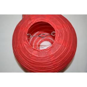 Papierový lampión guľatý visiaci 30cm červený