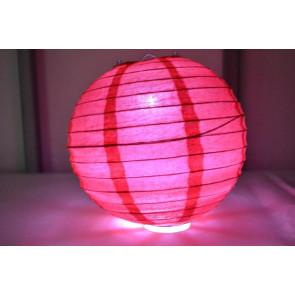 Papierový lampión guľatý visiaci LED 20cm červený