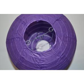 Papierový lampión guľatý visiaci 30cm fialový