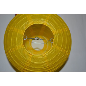 Papierový lampión guľatý visiaci 50cm žltý