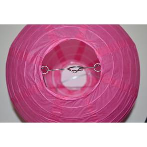 Papierový lampión guľatý visiaci 20cm fuchsia