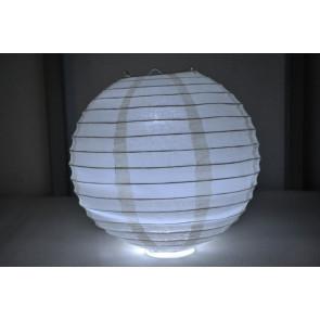 Papierový lampión guľatý visiaci LED 50cm béžový
