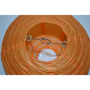 Papierový lampión guľatý visiaci 40cm oranžový
