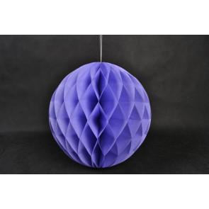 Dekoratívna Papierová guľa Honeycomb 20cm fialová