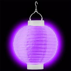 1ks Dekoratívny LED svietiaci lampión 20cm – fialový + AAA batérie zadarmo
