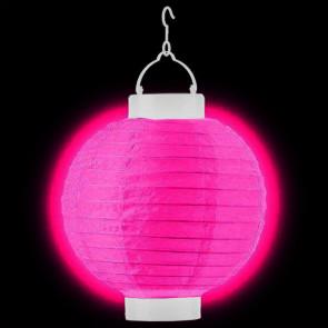 1ks Dekoratívny LED svietiaci lampión 20cm – fuchsia