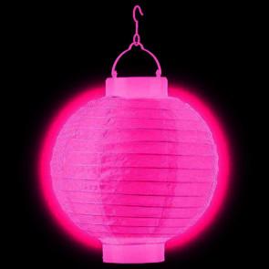 1ks Dekoratívny LED svietiaci lampión 30cm – fuchsia