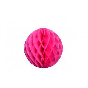 Dekoratívna Papierová guľa Honeycomb 20cm fuchsia