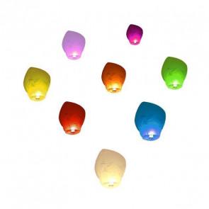 PREMIUM KVALITA 10 Lietajúci lampión Farebný Mix ECO