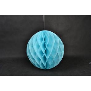 Dekoratívna Papierová guľa Honeycomb 20cm modrá