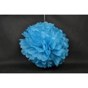 Papierový Pompom 50cm, modrý