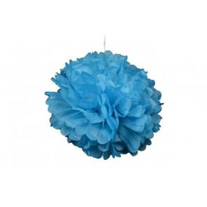 Papierový Pompom 40cm, modrý