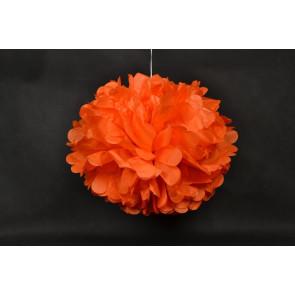 Papierový Pompom 40cm, oranžový
